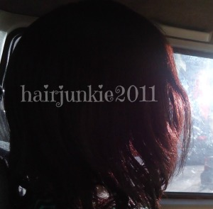 my hair colour in the sunlight due to henna
